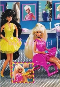 1994 Barbie Cut And Style Brunette Video Barbie Shop Pl