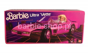1985  Barbie Pink Ultra ' Vette  Corvette ( Video )