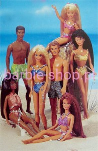 1995    Barbie  Sparkle Beach Teresa Brunette ( Video )