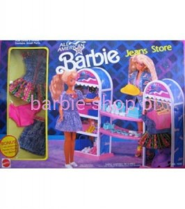 1990 BARBIE  ALL AMERICAN JEAN STORE