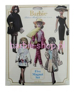 2004  Barbie Five Big Magnet Set