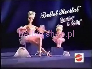 1997  Barbie & Kelly  Ballet Recital  Zestaw  ( Video )