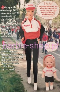 1998    Barbie &  Kelly   Walk  America  March  of  Dimes
